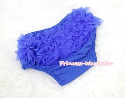 Infant Toddler Baby Royal Blue Ruffles Bloomer Pantie Brief For Pettiskirt 6m-3Y