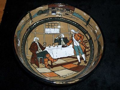 Antique Deldare Ware Bowl Vase By Buffalo Pottery ...signed