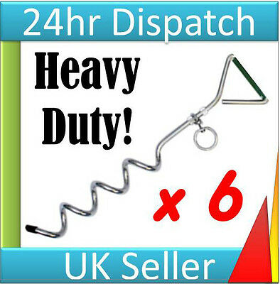 6 x heavy duty pop up gazebo pegs stakes storm wind anchors Recorded Delivery