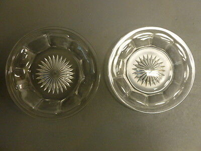 """TWO HEISEY PLATES  / SAUCERS 5.5"""" & 6"""""""