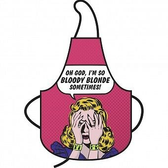 Oh My God Im So Bloody Blonde Apron Full Length Cotton