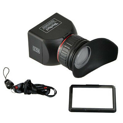 "CowboyStudio 3"" LCD Foldable Viewfinder 3x Magnification for Canon Nikon Olympus"