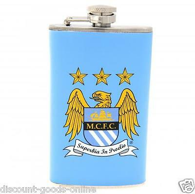 Manchester City Fc Hip Flask Great Birthday Or Christmas Present