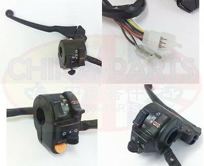 Chinese Bikes, ATV & Scooter Spares - GY125 L/H Switchgear & Clutch Lever Set