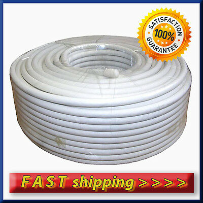 Satellite TV Coaxial RG6 Cable 50M White ( 2 F type connectors)