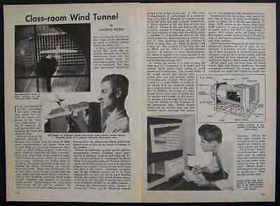 Wind Tunnel 1947 How-To INFO PLANS US Navy Goldberg Design