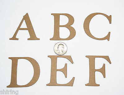 Color or Textured Chipboard Alphabet Letter Set Tim Holtz Word Play Raw White