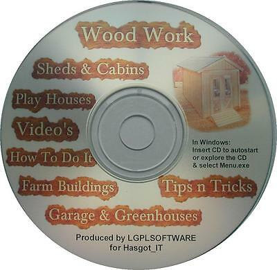 Quality Shed, Summer & Play House, Barn, Garage Plans & Woodwork D.I.Y CD-rom