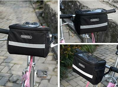 2015 Cycling Bike Bicycle Handlebar Bar Bag Front Basket Quick Release