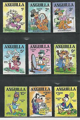 Anguilla # 434-442 Disney Easter 1981