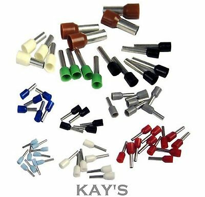 CORD END CABLE TERMINALS SINGLE ENTRY WIRING BOOTLACE FERRULES  0.25mm² - 16mm²