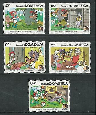 Dominica # 925-929 Mnh  Little Red Riding Hood By The Brothers Grimm