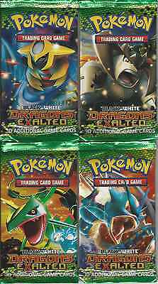 4 x Pokemon Black & White Dragons Exalted Booster Packs (10 Cards/pack)