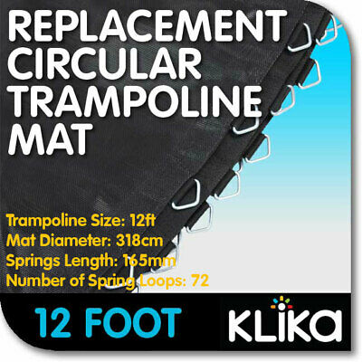 NEW 12ft REPLACEMENT TRAMPOLINE MAT ROUND OUTDOOR SPARE PARTS