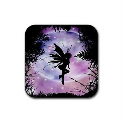 New Set Of 4  Purple Pink Fairy Dinner Bar Coasters