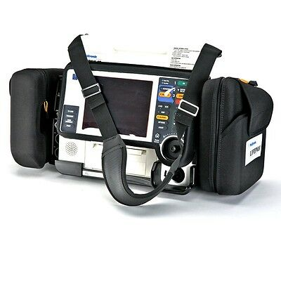 LIFEPAK 12 Carrying Case - Side Pouches, Shoulder Strap and Screen Cover - USED