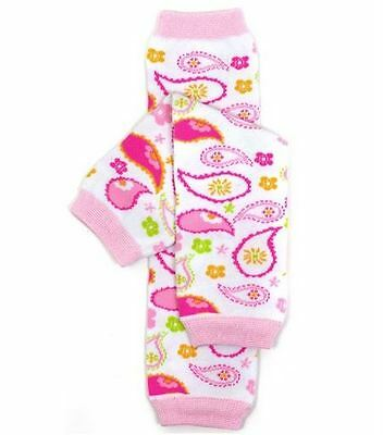 NEW Baby Toddler Girls Pretty Pink Paisley Leg Warmers