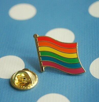 Regenbogen Gay Lesben Pin Button Badge Anstecker