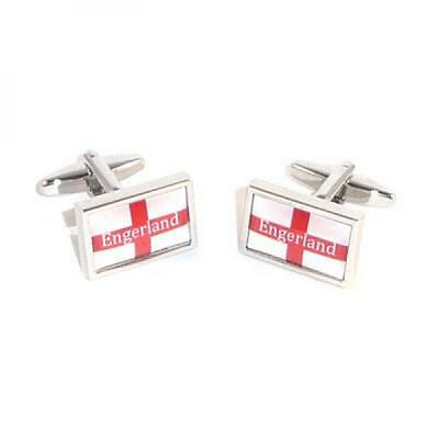 Engerland England St George Cross Flag Cufflinks Football Present Gift Box