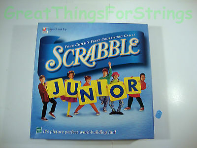 Scrabble Junior Ages 5 and Up Family Game Boardgame Hasbro Milton Bradley FULL