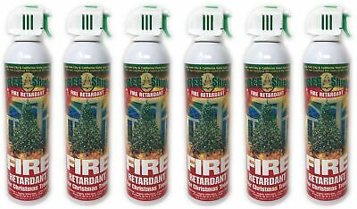 6 Cans Tree Shield Fire Retardant Spray For Christmas Trees Protection Brand New