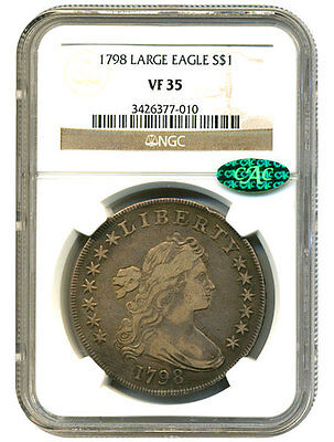 1798 Early Dollar Large Eagle NGC 35  CAC Sticker FREE SHIPPING US Only