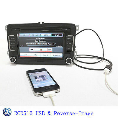 OEM RCD510 Radio for VW Volkswagen USB+Reverse-Image w/o DAB/RDS bluetooth Ops