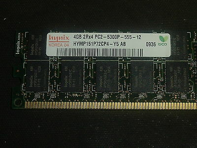 Hynix //HP 4GB 2RX4 PC2-5300P HYMP151P72CP4-Y5 AB-C ECC Server Memory