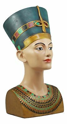 "Ancient Egyptian Large Queen Nefertiti Bust Resin Figurine Statue 18"" Height"