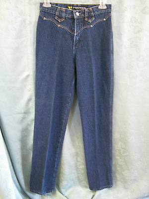 VTG 80's Rockies Slim Fit Western Jeans Size 9 Long & High Waisted