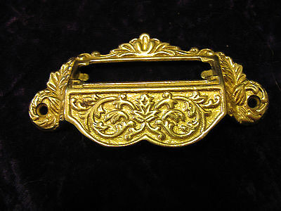 Reproductions of Antique Brass Card File organizer Drawer Pulls solid brass