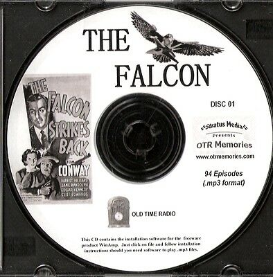 THE FALCON - 94 Shows Old Time Radio In MP3 Format OTR On 2 CDs