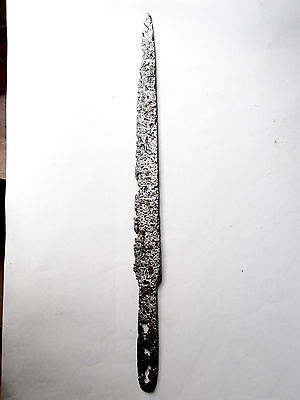 Superb Middle Age Iron Dagger .12/14 Th Century  Blade Knife South Germany  39Cm