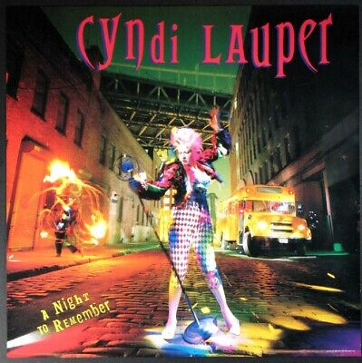 Cyndi Lauper A Night To Remember Promo Poster