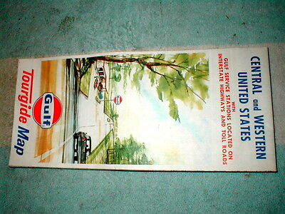 Gulf Tourguide Road Map Central & Western United States Possibly Unused