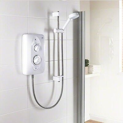 Mira JUMP Multi Fit 10.8 kW Electric Shower White & Chrome NEW - Showers Deals