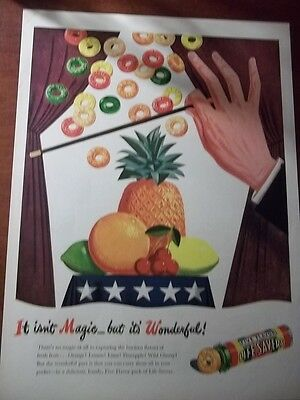 1945 Vintage Ad For Lifesavers Candy 10X13 Magician Isn't Magic, It's Wonderful