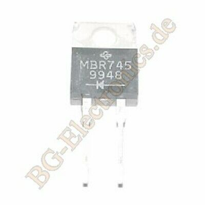 2 x MBR745 Power Schottky Diode Philips TO-220 2pcs