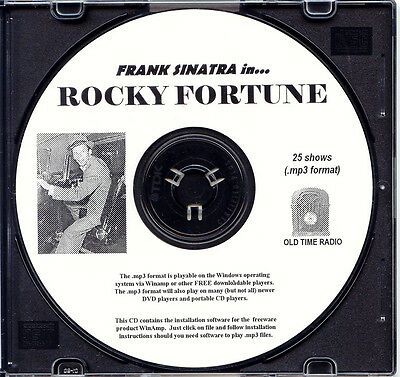 ROCKY FORTUNE - 25 Shows Old Time Radio In MP3 Format OTR 1 CD   Frank Sinatra
