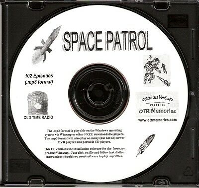 SPACE PATROL - 102 Shows Old Time Radio In MP3 Format OTR On 1 CD