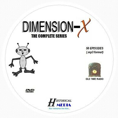 DIMENSION-X - 50 Shows Old Time Radio In MP3 Format OTR On 1 DVD