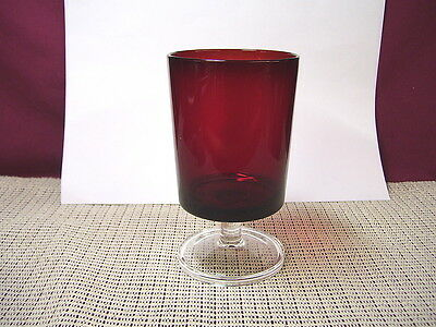 Cristal d'Arques Crystal Cavalier Ruby Red Water Goblet