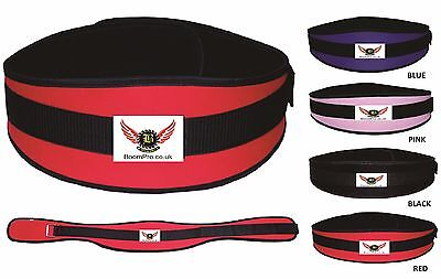 BooM Pro Weight Lifting Gym Belts Body Building Fitness and Exercise Neoprene