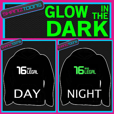 Funny 16Th Birthday Gift Adults & Childrens Glow In The Dark Hoodie Hoody