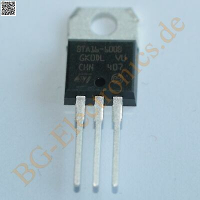 2 x BTA16-600B TRIAC 16A 600V  BTA16600B STM TO-220 2pcs