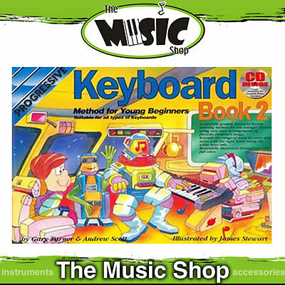 New Progressive Young Beginner Keyboard Method Book 2 with CD - Kids Lesson Book