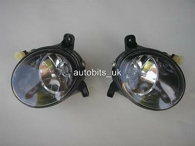 Clear Lens Fog Lights Lamps Left + Right For Audi A 4 A4 B8 A4L 2009-2012 A1 Q5
