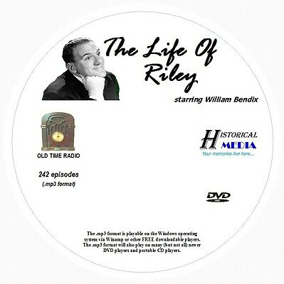THE LIFE OF RILEY - 242 Shows Old Time Radio In MP3 Format OTR On 1 DVD
