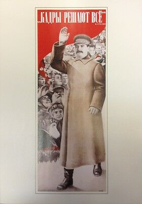 Russian Soviet Political Propaganda Poster Personnel Means Everything