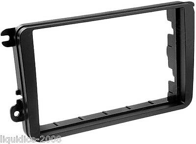 DFP-17-03 VOLKSWAGEN CADDY 2001 to 2012 BLACK DOUBLE DIN FASCIA ADAPTOR PANEL
